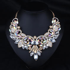 Fashionable Alloy Rhinestones With Rhinestone Ladies' Fashion Necklace
