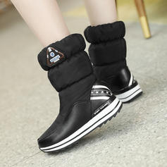 Women's Fabric Low Heel Boots With Elastic Band shoes