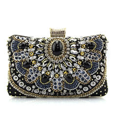 Fashionable Satin/Crystal/ Rhinestone Clutches/Fashion Handbags
