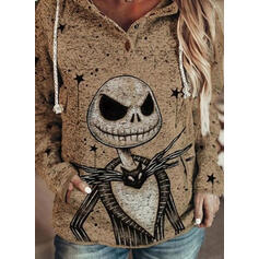 Halloween Pockets Long Sleeves Hoodie