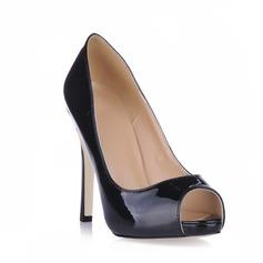 De mujer Piel brillante Tacón stilettos Sandalias Plataforma Encaje zapatos