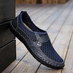 Penny Loafer Fritids Microfiber läder Mesh Män Loafers för män