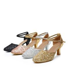 Női Bálterem Sarok Műbőr Csillám -Val Boka szalag Alkalmi cipők