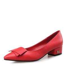 Femmes Similicuir Escarpins Bout fermé avec Bowknot chaussures