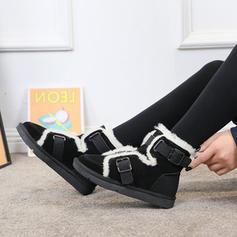 Жіночі ПУ Низький каблук Чоботи середньої довжини Снігові чоботи з Пряжка взуття