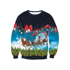 üniseks Polyester tayt baskı Noel Kazak