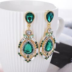 Gorgeous Alloy Rhinestones With Rhinestone Ladies' Fashion Earrings