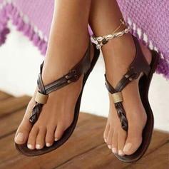 Femmes Similicuir Talon plat Sandales avec Autres chaussures