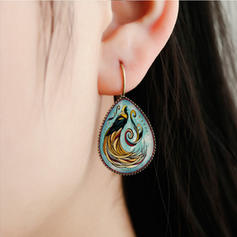 Gorgeous Fashionable Exotic Alloy Glass Earrings