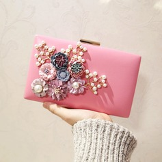 Fashionable PU/Alloy Clutches