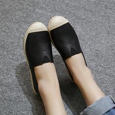 Femmes PU Talon plat Chaussures plates Bout fermé avec Élastique chaussures