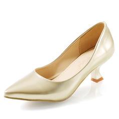 Femmes Similicuir Talon kitten Escarpins Bout fermé chaussures