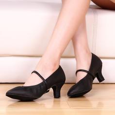Жіночі Взуття для танців Каблуки Шкіра з Пряжка Взуття для спортивно-бальних танців