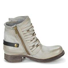 Dámské PU Nízký podpatek Boty S Zip obuv