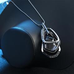 Con estilo Aleación Diamantes de imitación Vidrio con Rhinestone De mujer Collares (Sold in a single piece)