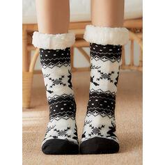 Print/Rendier van Kerstmis Warme/Kerstmis/Crew sokken/Antislip/Unisex Sokken