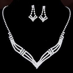 Hermoso Aleación Diamantes de imitación con Rhinestone Señoras' Sistemas de la joyería