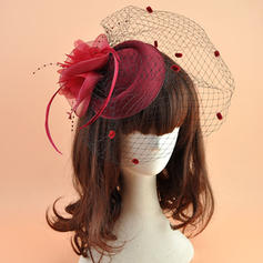 Dames Beau Organza avec Feather Chapeaux de type fascinator/Chapeaux Tea Party