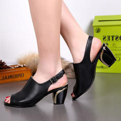 Femmes Similicuir Talon bottier Sandales Escarpins À bout ouvert avec Perle d'imitation Autres Lanière tressé Semelle chaussures