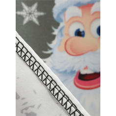 Nadrukowana Bez rękawów W kształcie litery A Długośc do kolan Wintage/Boże Narodzenie/Przyjęcie/Elegancki Sukienki