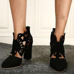 De mujer PU Tacón ancho Salón Top bajo con Agujereado zapatos
