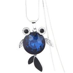 Fashionable Alloy Rhinestones Glass Ladies' Fashion Necklace