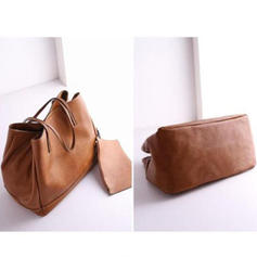 Solid Color PU Tote Bags/Bucket Bags