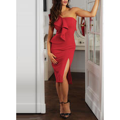 Solid Sleeveless Bodycon Party/Elegant Midi Dresses