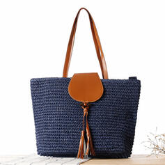Unique/Charming Paper Rope Shoulder Bags/Beach Bags/Bucket Bags