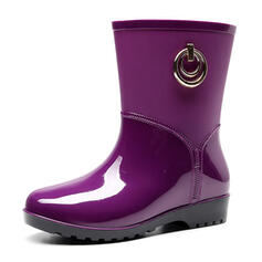 Women's Men's Rubber Low Heel Rain Boots With Others shoes
