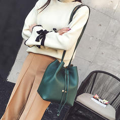 Unique/Commuting/Solid Color PU Crossbody Bags/Shoulder Bags