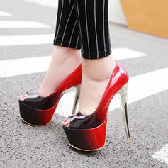 Femmes Similicuir Talon stiletto Plateforme À bout ouvert chaussures