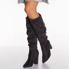 Women's PU Stiletto Heel Knee High Boots With Ruched shoes