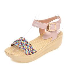 Dla kobiet PVC Obcas Koturnowy Sandały Czólenka Koturny Otwarty Nosek Buta Bez Pięty Z Klamra obuwie