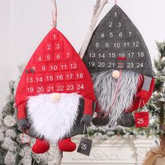 Gnome god jul hengende Ikke-vevd stoff Julepynt Jule Adventskalender