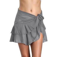 Solid Color Bottom Elegant Bottoms Swimsuits