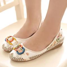 Femmes Tissu Talon plat Chaussures plates avec Autres chaussures