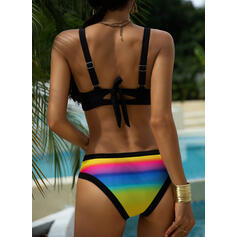 Splice color Halter Sexy Bikinis Swimsuits