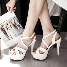 Femmes PU Talon stiletto Escarpins Plateforme avec Boucle chaussures