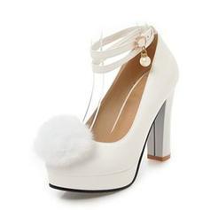 Dla kobiet PU Obcas Slupek Czólenka Platforma Zakryte Palce Z Imitacja Pereł Pozostałe obuwie