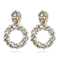 Exquisiten Legierung Strasssteine Frauen Ohrringe
