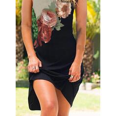 Impresión/Floral Sin mangas Cubierta Sobre la Rodilla Casual/Vacaciones Tanque Vestidos