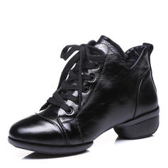 Women's Modern Sneakers Ballroom Sneakers Real Leather Ballroom