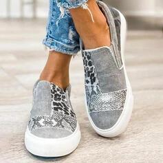 Pentru Femei Pânză călcâi plat Vârf scăzut Alunecă cu Imprimeu Animal Bandă Elastică pantofi