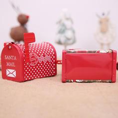 Merry Christmas Gift Bag Metal Candy Jars