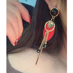 Chic Alliage Bois Femmes Boucles d'oreille de mode (Lot de 2)