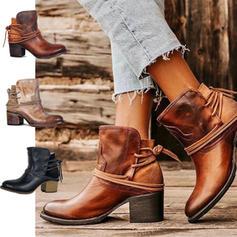 Dla kobiet PU Obcas Slupek Martin Buty Z Sznurowanie obuwie