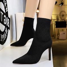 Жіночі Тканина Шпилька Бокові черевики з Інші взуття