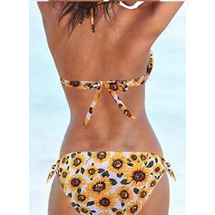 À pois Taille Basse Noué Dos Nu Sexy Bikinis Maillots De Bain