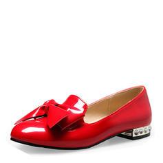 Naisten Kiiltonahka Matalakorkoiset Heel Matalakorkoiset Suljettu toe jossa Bowknot kengät